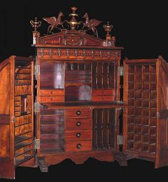 Section 1: Wooten Desk - made with many cubbies to hide things like money because there were no banks back then