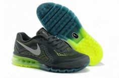 Nike Air Max 2014 Running malla gris / oscuro / azul / amarillo http://www.esnikerun.com/