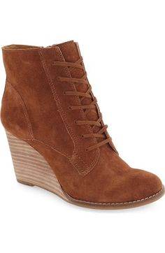 Lucky Brand 'Yelloh' Wedge Bootie (Women) available at #Nordstrom