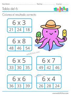2nd Grade Math Worksheets, School Worksheets, 4th Grade Math, Math For Kids, Lessons For Kids, Math Lessons, Math Tables, Math Sheets, Math Multiplication