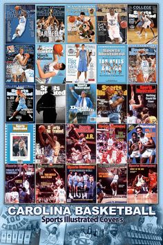 Carolina Basketball Sports Illustrated covers collage