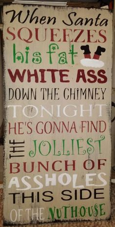 Primitive Sign Christmas Quote Clark Griswold Distressed Folk Art Sign Wooden Country Shabby Grungy Santa Claus Christmas Vacation