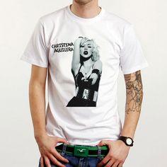 Christina Aguilera Sexy Pop Rock Music Custom White T-Shirt Tee All Size XS-XXL