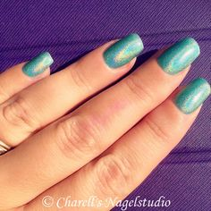 Rainbow Turquoise Nails