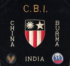 """WWII China, Burma, India Army Aircorp campaign. Not sure what the """"Phoenix"""" patch indicates."""