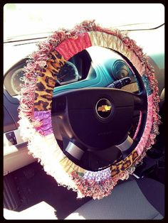 DIY Boho Steering Wheel Cover. For ready-made steering wheel covers check out CarDecor.com.