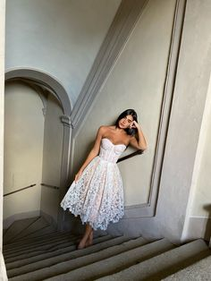 dresses for engagement party Wednesday Mood. The new OLIVIA white Shop now at Pretty Prom Dresses, Elegant Dresses, Beautiful Dresses, Cute Dresses, Formal Dresses, Gala Dresses, Evening Dresses, Women's Fashion Dresses, Dress Outfits