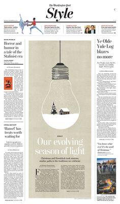 Washington Post print design by Chris Barber, via Behance / Newspaper / Editorial / Design: