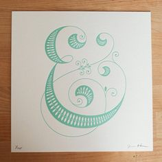"letterpressed ""&"" by Jessica Hische"
