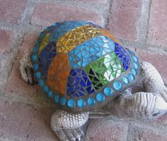 Mosaic Turtle by GardenDivaDeb, via Flickr