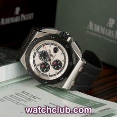 AUDEMARS PIGUET Royal Oak Offshore 44mm - Steel & Ceramic REF: 26400SO.OO.A002CA.01 | Year Apr 2012 - New condition (from April 2012) 44mm steel & ceramic Offshore Chronograph. Audemars Piguet have updated their best-selling model by introducing a scratchproof black ceramic bezel held in place with eight white gold bolts, as well as rectangular shaped ceramic chronograph pushers - for sale at Watch Club, 28 Old Bond Street, Mayfair, London