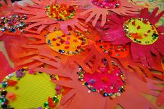 Indian Little Hand Flowers- India Unit 1st grade