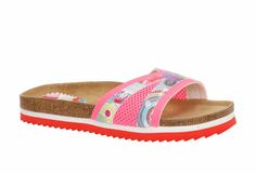 "Desigual Gorgeous Flat Sandals ""Nora"", Low platform sandals in pink Desigual print. Flat Sandals, Flats, Birkenstock, Espadrilles, Stuff To Buy, Shoes, Fashion, Loafers & Slip Ons, Espadrilles Outfit"