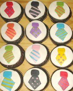 Tie Cupcakes ~