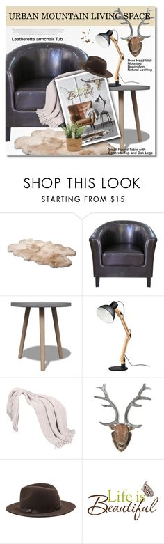 """Lov Dock - URBAN MOUNTAIN LIVING SPACE"" by svijetlana ❤ liked on Polyvore featuring UGG Australia, MANGO and Wall Pops!"