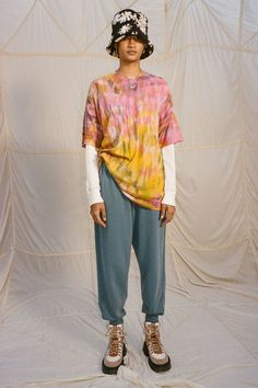 Kimchi, Urban Outfitters, Oversized Tee, Tie Dyed, Cold Weather Fashion, T Shirt, Tees, My Style, Blue