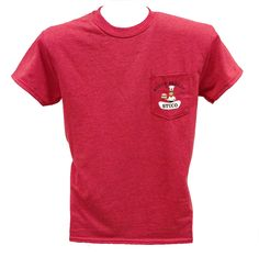 Hebron STUCO Officers: Heather Red Pocket T-Shirt