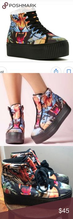 Jeffrey Campbell JC Play Platform Sneakers Great Condition JC Play Hiya Platform Sneakers. Colorful and fun. JC Play Shoes Sneakers