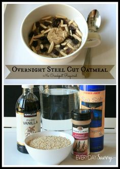 Check out this easy steel cut overnight oatmeal recipe. It is so easy and delicious and does not require a crockpot. This is an easy overnight oats recipe that they whole family will love. It is an easy and healthy recipe which is a favorite!