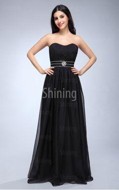 Crystals,Layers,Diamond Black A-line Floor-length Sweetheart Dress £68.00