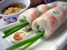 Fresh spring rolls-I seriously love making and eating this, along with the peanut dipping sauce, it's so delish!