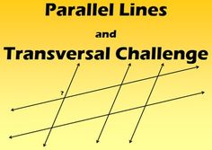 I created these activities to challenge my students to use the properties of parallel lines intersected by multiple and parallel traversals to calculate angle measures.  The angle measures are also measured using decimals which adds a touch of complexity.