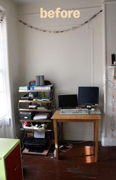 Diy dorm room crafts : DIY Furniture Wall Home Office Space