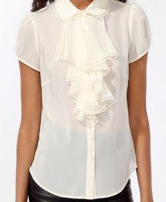 Cascading Ruffle Trimmed Shirt | FOREVER 21 - 2000048962