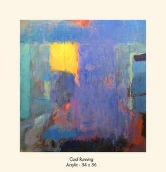 "Tony Saladino, artist, ""Cool Running"", acrylic, 34x36"