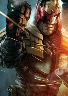 .Great Dredd painting...