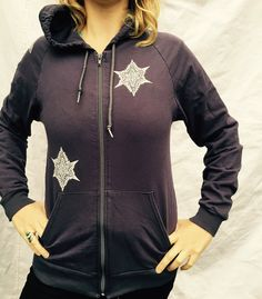 Celtic Purple Gray Bull Hoodie Protection Pagan by celticfantasy