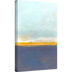 Equally at home in an artful collage or on its own as an eye-catching focal point, this charming canvas print showcases an abstract horizon motif. Made in th...