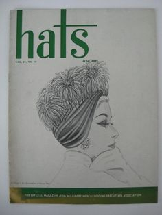 VINTAGE June 1957 HATS Millinery Accessory by VintageFunkandFlair, $75.00