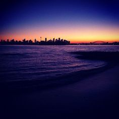 #Skyline and #HarbourBridge at dusk from Milk Beach in #Sydney #Australia