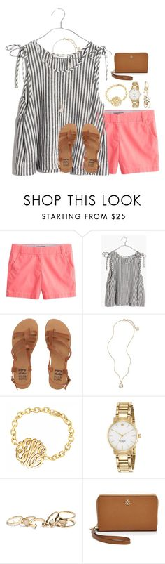 """I'm walkin on sunshine ☀️"" by livnewell ❤ liked on Polyvore featuring J.Crew, Madewell, Billabong, Kendra Scott, Kate Spade, GUESS and Tory Burch"