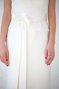 Blythe | Satin Ribbon Belt | Wedding Gown Belt | Charlotte Balbier