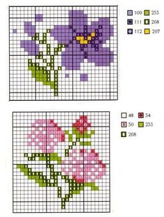 small flower patterns - would be good for gift tags