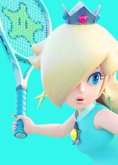 Rosalina plays tennis Mario Bros., Mario Party, Mario And Luigi, Video Game Memes, Video Game Art, Super Mario Brothers, Super Mario Bros, Nintendo Princess, King Boo