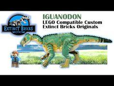 IGUANODON LEGO Compatible Custom - Extinct Bricks Original #LEGO #JURASSICWORLD #IGUANODON - YouTube Dinosaur Art, Dinosaur Stuffed Animal, Legos, Lego Dino, Lego Jurassic World, Artwork For Home, Lego House, Lego Projects, Lego Stuff