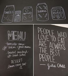 chalkboard wall | Clearly, I need practice writing level on a wall. It's been almost 2 ...
