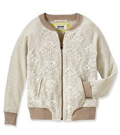 This Cream Lace Zip-Up Bomber Jacket - Infant, Toddler & Girls by RUUM is perfect! Toddler Girl Outfits, Kids Outfits, Toddler Girls, Clothing Subscription Boxes, Vintage Outfits, Baby Dress Patterns, Kids Fashion, Fashion Outfits, Ss16