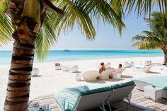 Meeru Island Resort & Spa - a luxury escape Maldives Holidays, Luxury Escapes, Island Resort, Resort Spa, Shades Of Blue, Surfboard, Tropical, Outdoor Decor, Maldives