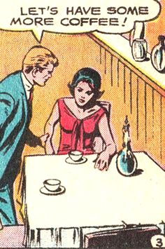 "Comic Boys Say...""let's have some more coffee !""   #comic #vintage"