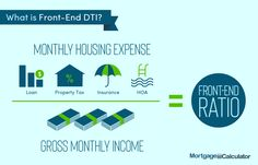 Debt-to-Income Ratio Calculator for Mortgage Approval: DTI Calculator Debt To Income Ratio, Fha Mortgage, Mortgage Calculator, Property Tax, Finance, Learning, Marketing, Studying, Teaching
