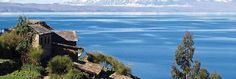 Pintween You and Me : Lake Titicaca is a lake located on the border of Peru and Bolivia. It sits 3,812 m (12,500 ft) above sea level, making it one of the highest commercially navigable lakes in the world. By volume of water it is also the largest lake in South America