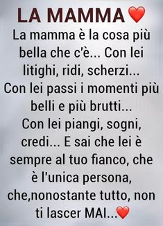 Mamma Rosa, Italian Love Quotes, Italian Phrases, Sayings And Phrases, For You Song, Mom Son, Learning Italian, Love You, My Love