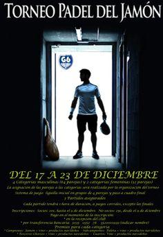 Cartel de torneo del jamón en el que la finales se jugarán el día 23-12-2012