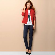 Lined, Fitted Jacket in Pure Cotton