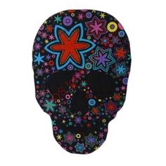 Kids Play Mat Black Pink Turquoise Sugar Skull 100cm x 150cm Day of the Dead New