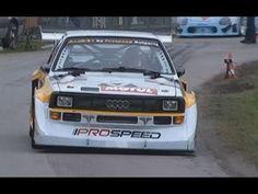 INSANE Audi Quattro Sport S1 1000 Lakes Group B Rally (Pure Engine Sound) - YouTube